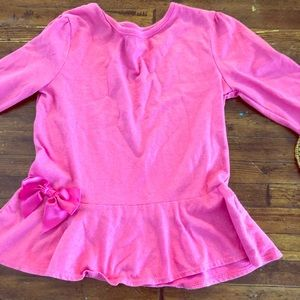 Bundle!!! Pink long sleeve tee with bow
